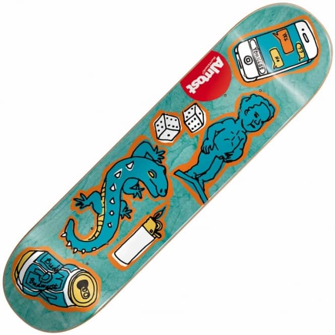 Almost Skateboards Youness Amrani Dumb Doodle Skateboard Deck 7.75