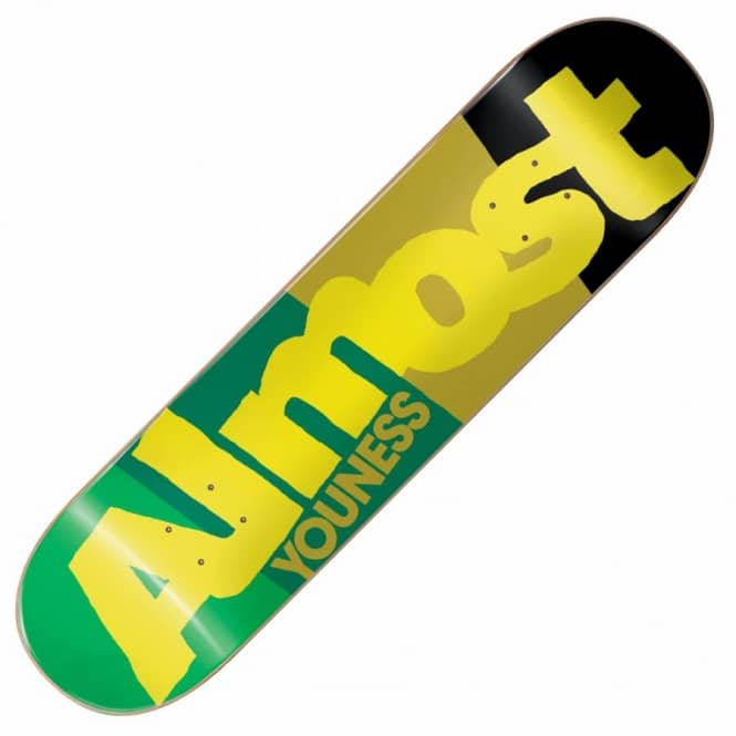 Almost Skateboards Youness Colour Block Skateboard Deck 7.75''