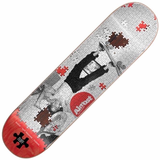 Almost Skateboards Youness Fluff Puzzle Impact Plus Skateboard Deck 8.25