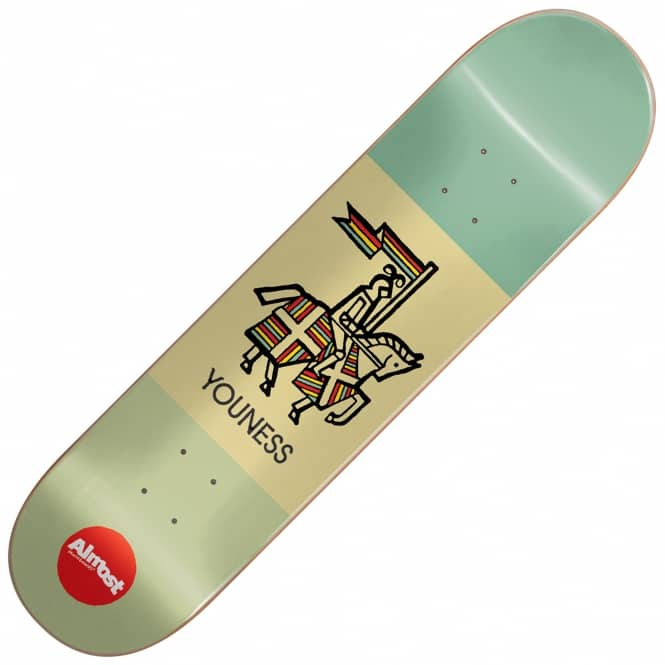 Almost Skateboards Youness Knight 420 Skateboard Deck 8.125
