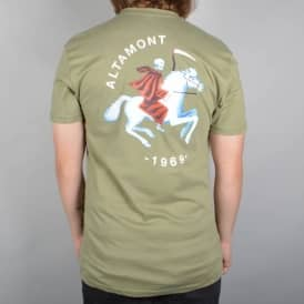 Altamont Grim Rider T-Shirt - Safari Green