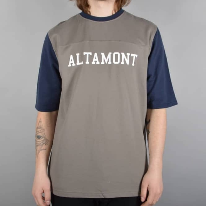 Altamont Halfback Jersey Top - Navy/Grey