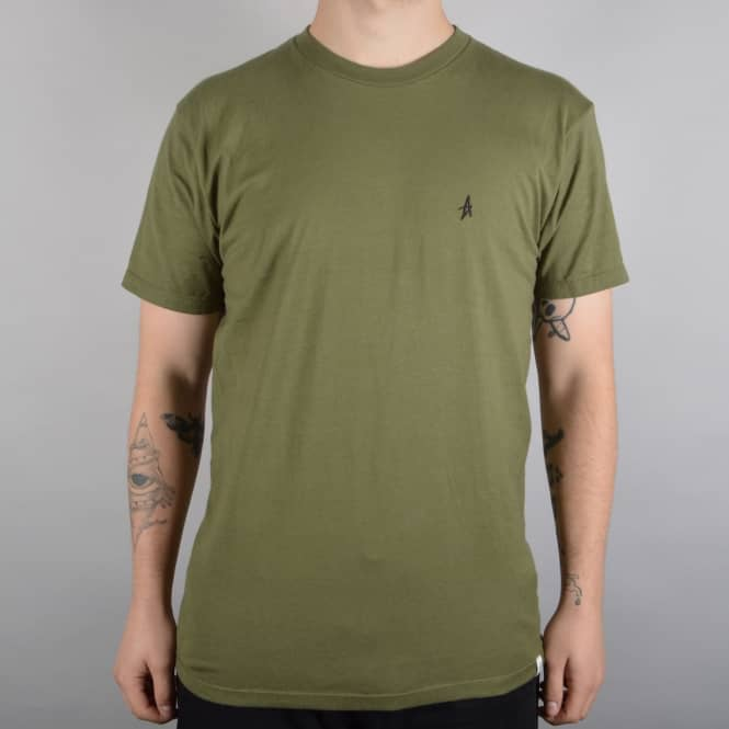 Altamont Micro Embroidery Skate T-Shirt - Military Green