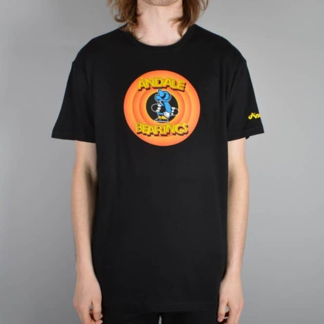 Andale Bearings Circle Skate T-Shirt - Black