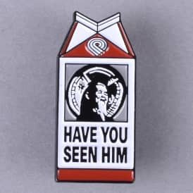 Animal Chin Milk Carton Lapel Pin - 1.5