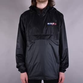 Anorak Packable Jacket - Black/Anthracite/Solar Red