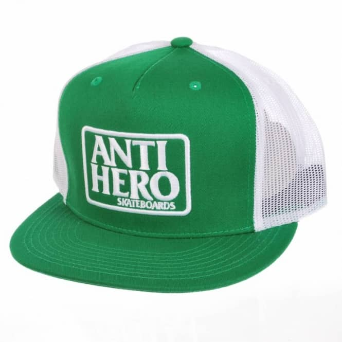 Antihero Skateboards Anti Hero Reserve Trucker Cap Kelly Green White ... d6b2676936b
