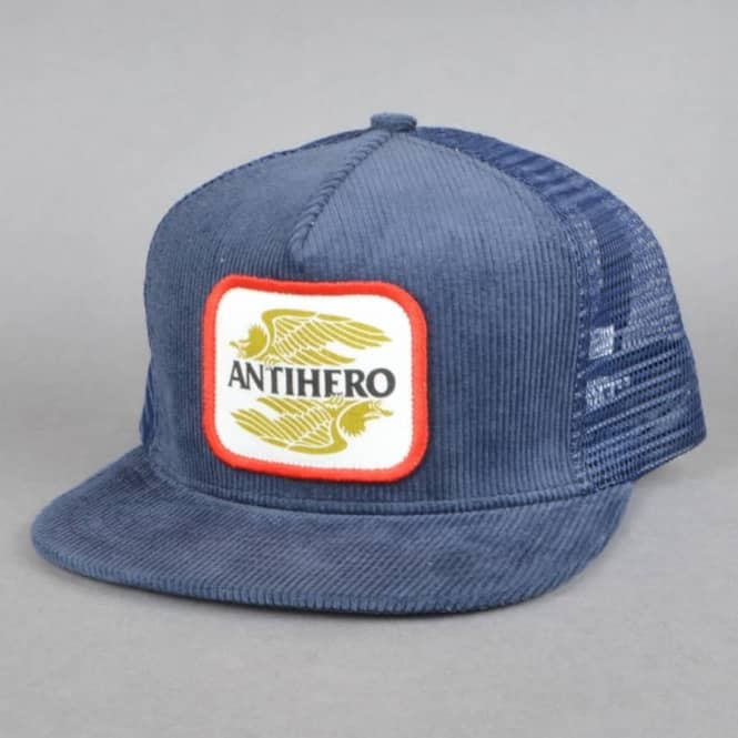 8cafc602 Antihero Skateboards Antihero Skateboards AHXR Corduroy Trucker Cap - Navy