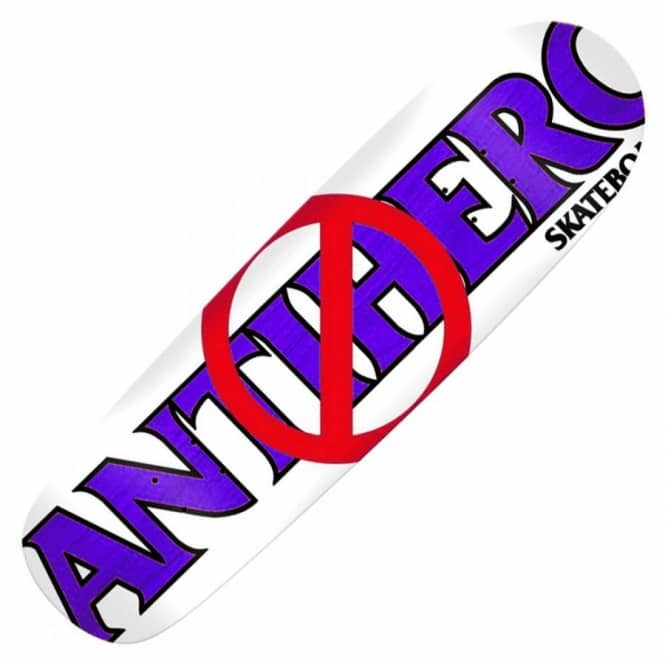 Anti Anti White Custom Skateboard Deck 9 3''