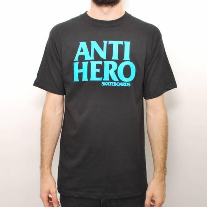 07bbde2e6a Antihero Skateboards Anti Hero Black Hero Skate T-Shirt - Black Blue ...