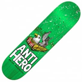Antihero Skateboards BA 1st (Teal Stain) Skateboard Deck 8.62''