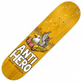 Antihero Skateboards BA 1st (Yellow Stain) Skateboard Deck 8.62''