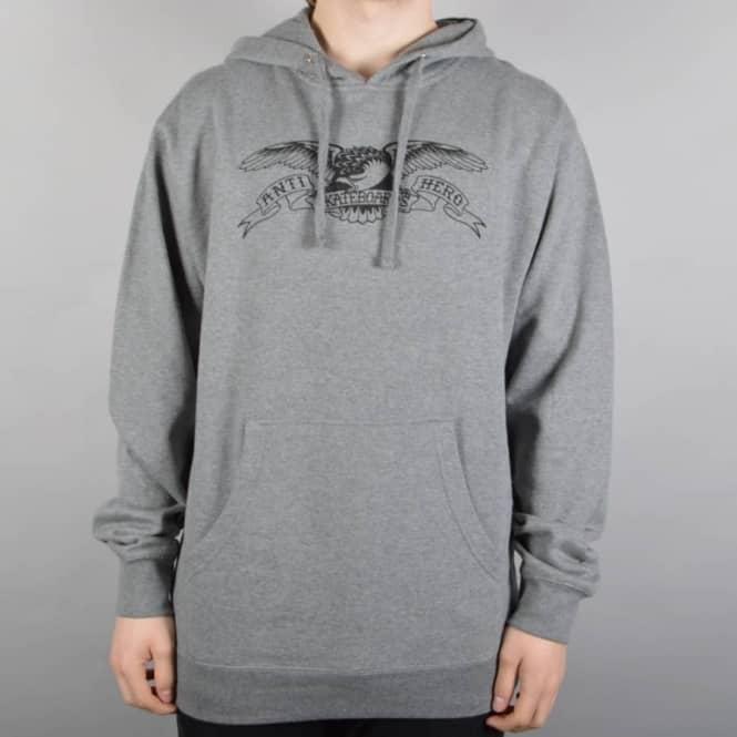 Antihero Skateboards Basic Eagle Pullover Hoodie - Gunmetal Heather