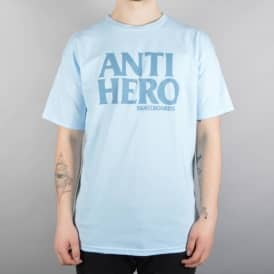 Antihero Skateboards Black Hero Skate T-Shirt - Powder Blue