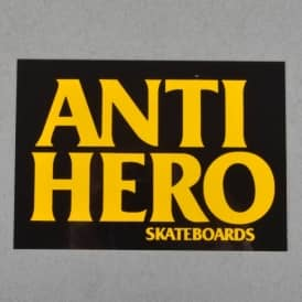 Antihero Skateboards Black Hero Skateboard Sticker - Assorted Colours