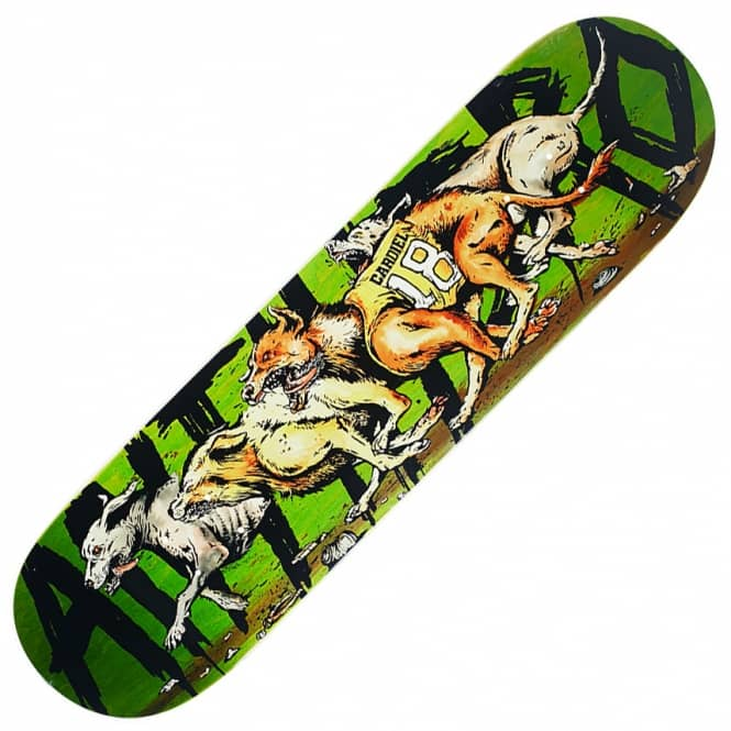 Antihero Skateboards Cardiel Feral Green Stain Skateboard Deck 8.43