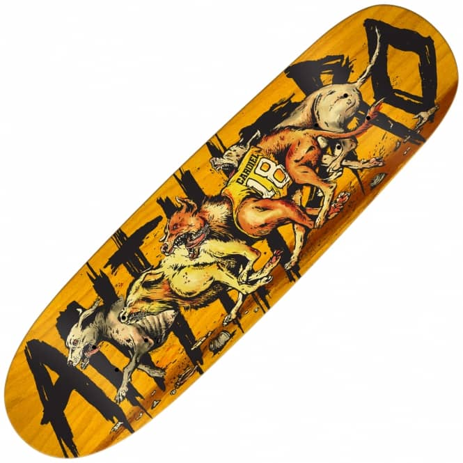 Antihero Skateboards Cardiel Feral Pigmat Shape (Orange Stain) Skateboard Deck 9.3