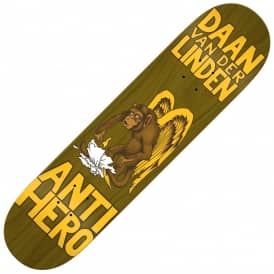 Antihero Skateboards Daan Van Der Linden First Pt.2 Tobacco Stain Skateboard Deck 8.06""