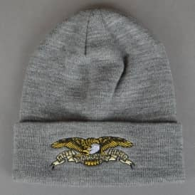 Antihero Skateboards Eagle Cuff Beanie - Heather Charcoal