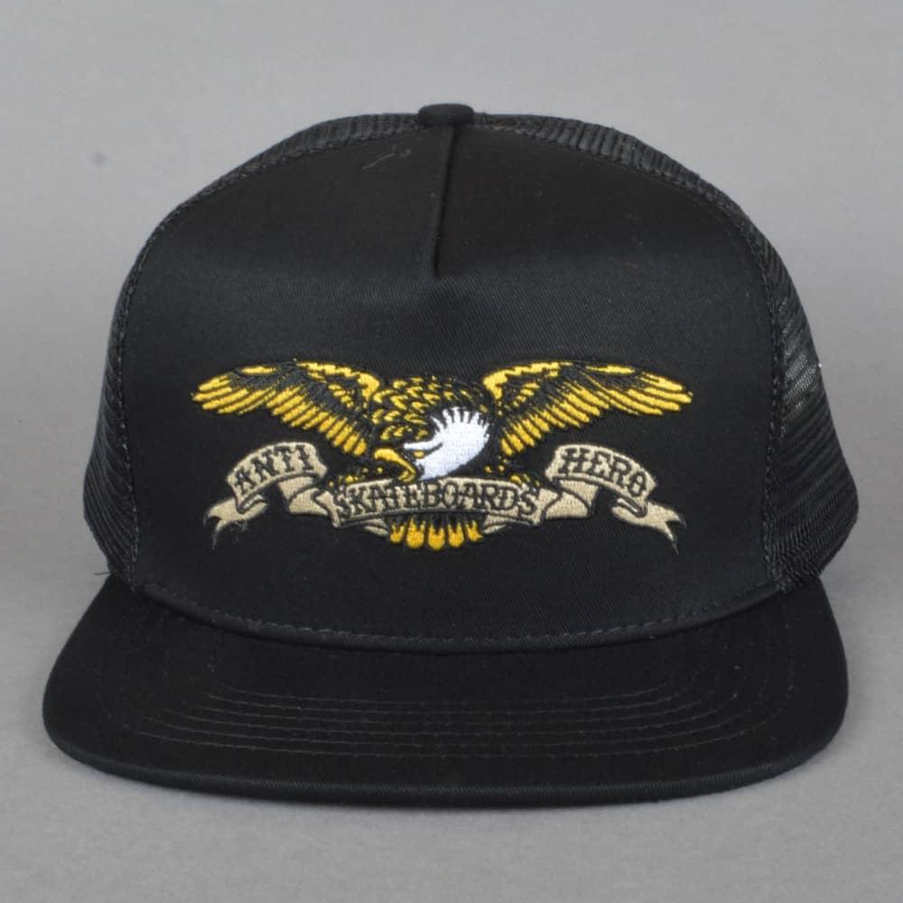 dc348a0069e5b Antihero Skateboards Eagle Embroidered Trucker Cap - Black - SKATE ...