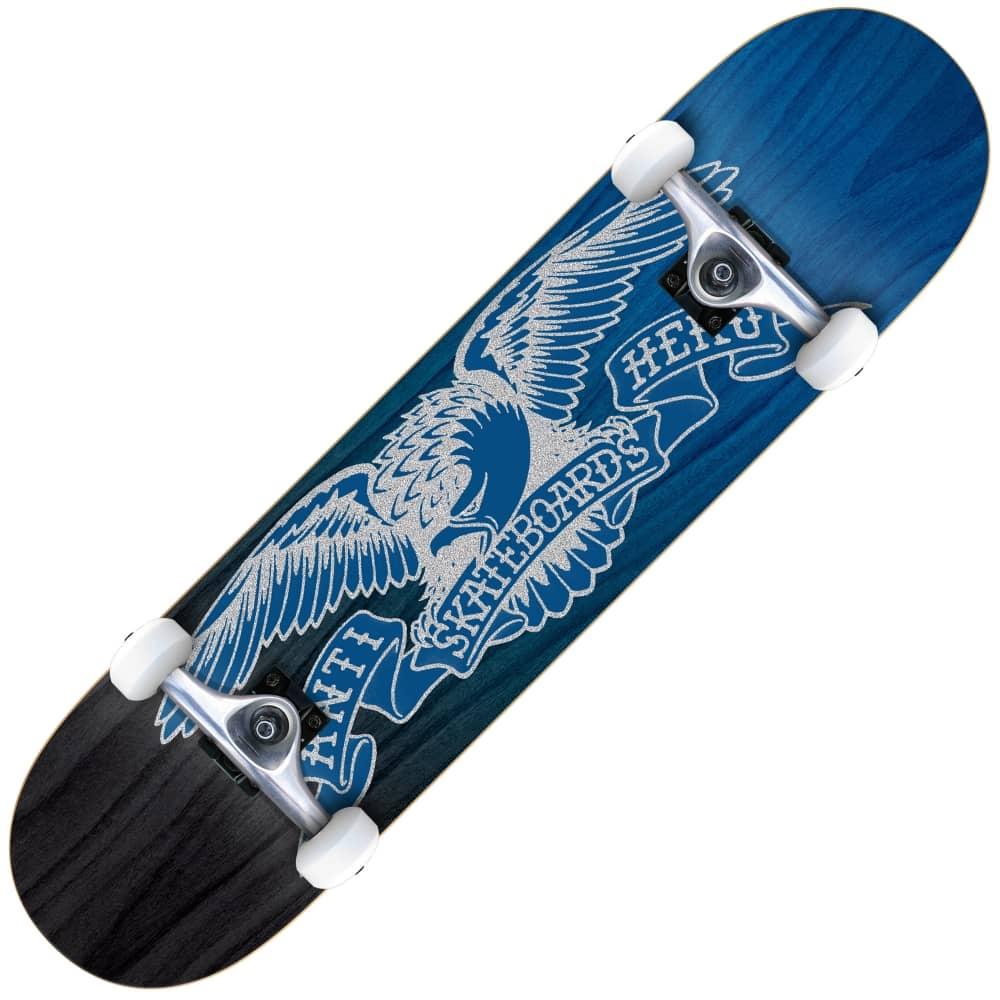b2aacb6c4e Antihero Skateboards Eagle Fade Medium Blue/Black Complete Skateboard 7.75