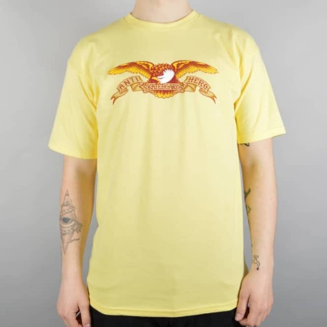 Antihero Skateboards Eagle Skate T-Shirt - Banana