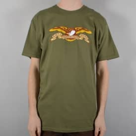 Antihero Skateboards Eagle Skate T-Shirt - Military Green