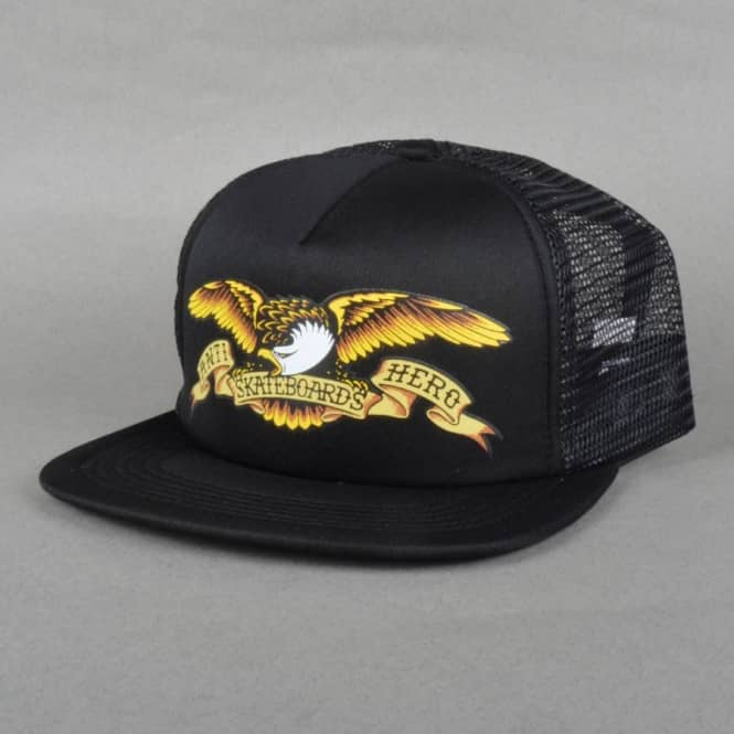 9fb8cb54 Antihero Skateboards Eagle Trucker Cap - Black - Caps from Native ...