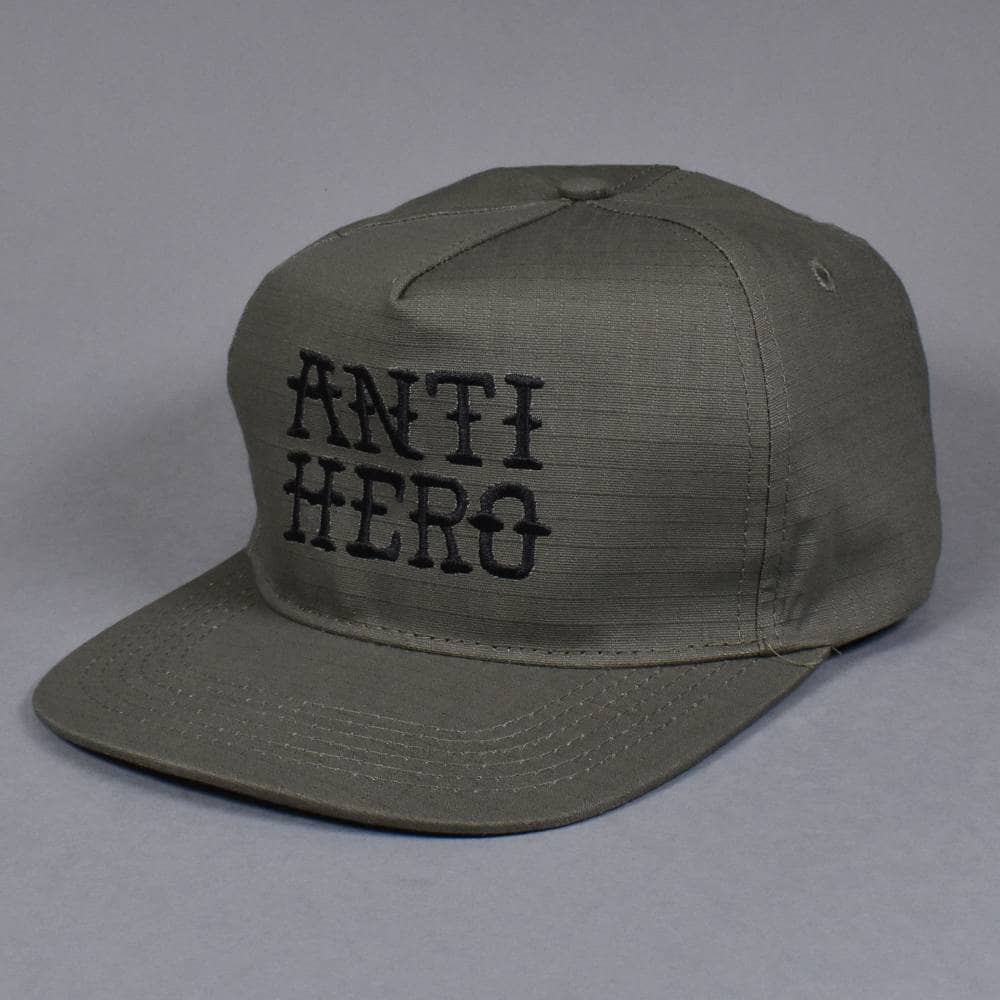 ab1bd26dd30717 Antihero Skateboards Flash Hero Snapback Cap - Army Green - SKATE ...