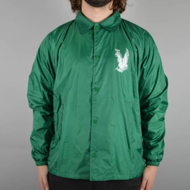 Antihero Skateboards Flying Eagle Coach Jacket - Kelly Green