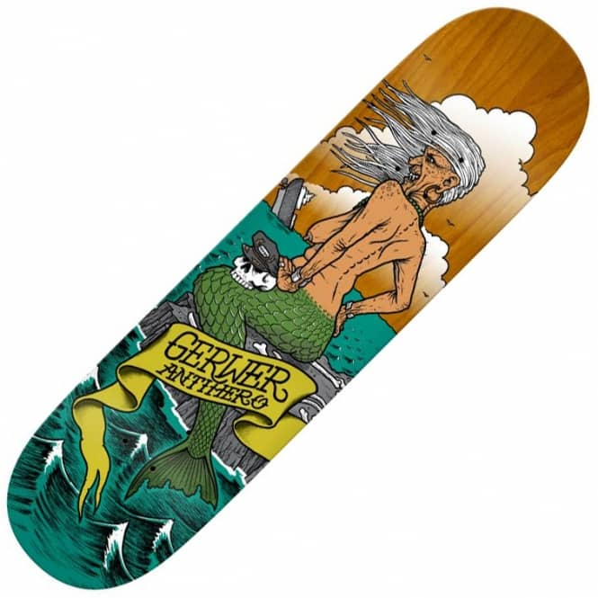 Antihero Skateboards Gerwer Sea Hags Skateboard Deck 8.28