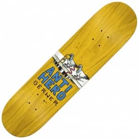 Antihero Skateboards Gerwer Wonderful Life (Full Shape Yellow Stain) Skateboard Deck 8.06""