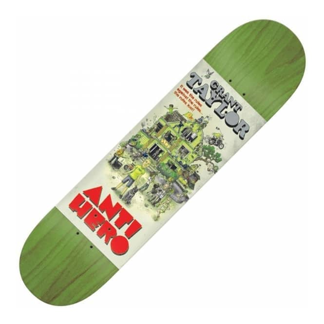 Antihero Skateboards Grant Taylor Strat House Medium Skateboard Deck 8.0