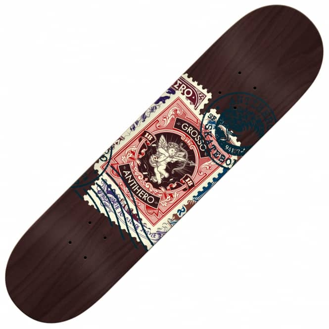 Antihero Skateboards Grosso Postal (Black Stain) Skateboard Deck 8.75