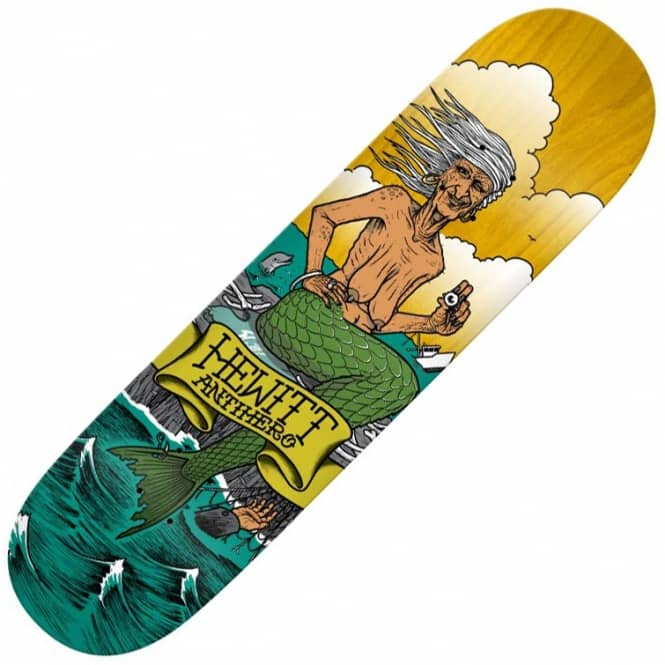Antihero Skateboards Hewitt Sea Hags Skateboard Deck 8.25