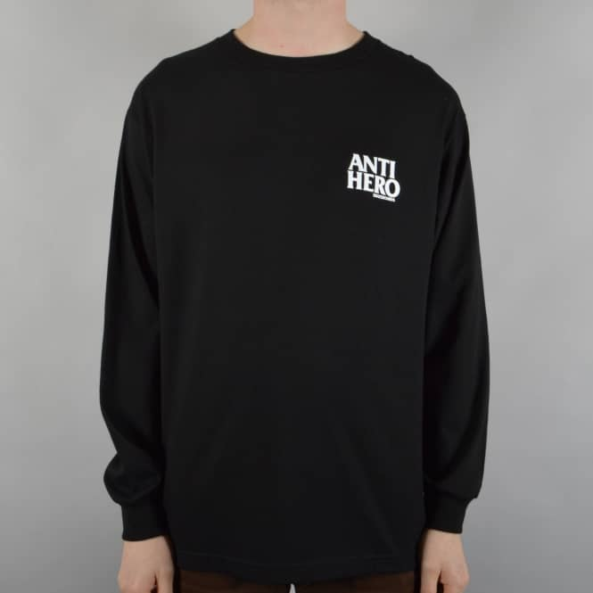 Antihero Skateboards Lil Blackhero Longsleeve Skate T-Shirt - Black