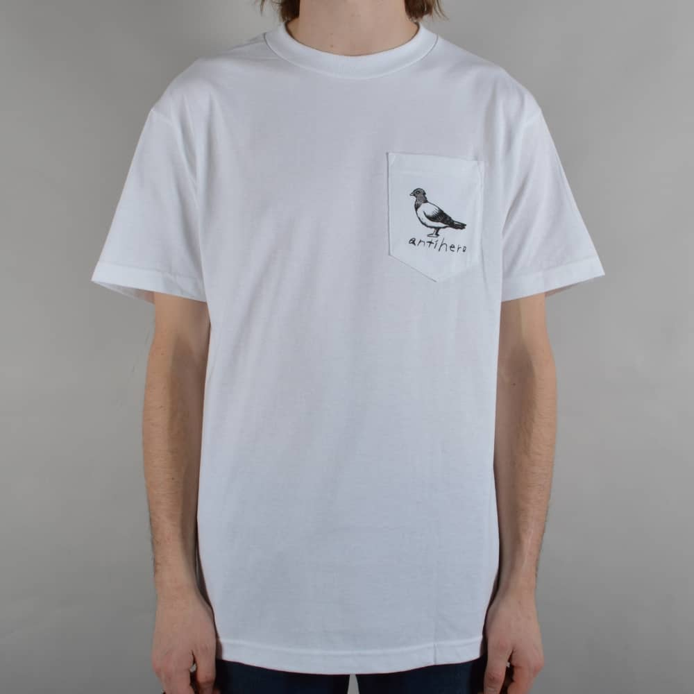 cd837b95 Antihero Skateboards Lil OG Pigeon Pocket T-Shirt - White - SKATE ...