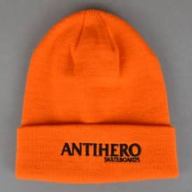 Antihero Skateboards Long Blackhero Beanie - Orange