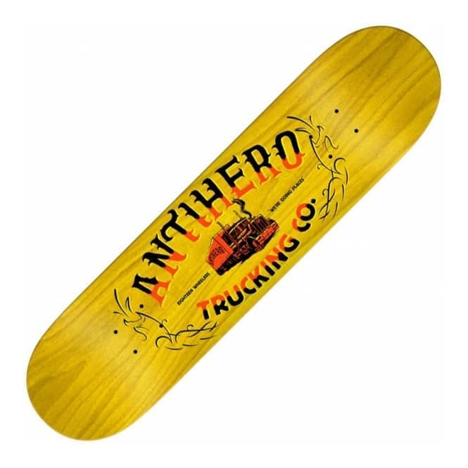 Antihero Skateboards One Eight Trucking Medium (Yellow Stain) Skateboard Deck 8.25
