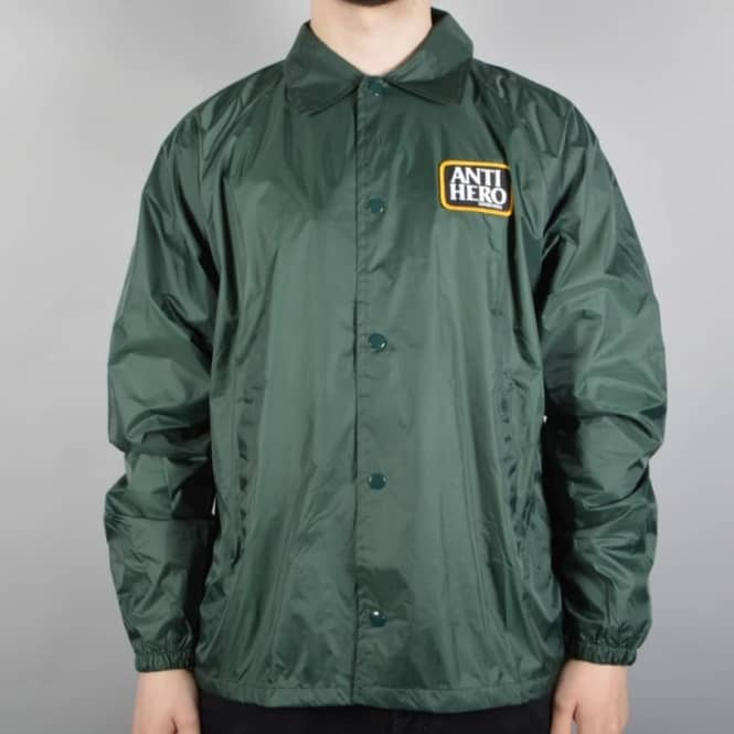 Antihero Skateboards Reserve Patch Coaches Jacket - Dark Green