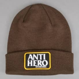 Antihero Skateboards Reserve Patch Cuff Beanie - Brown