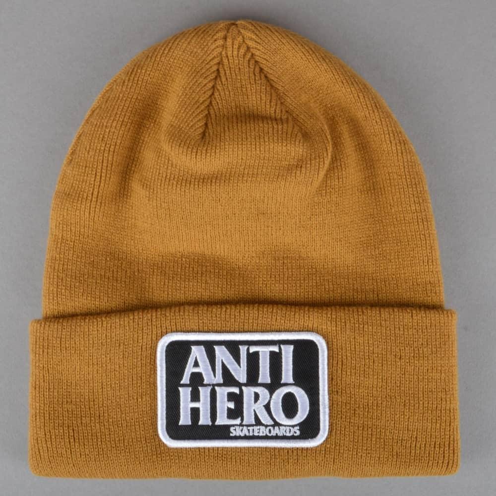 Antihero Skateboards Antihero Skateboards Reserve Patch Cuff Beanie - Brown 3bc93f7d58a
