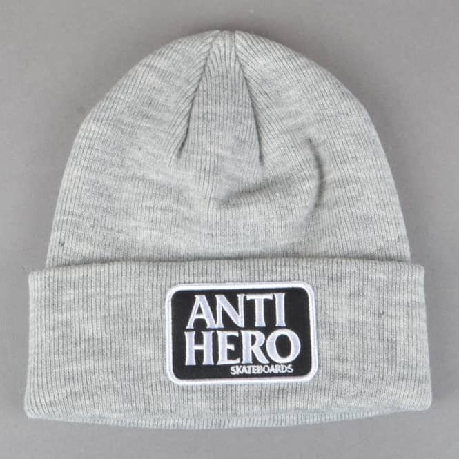 Antihero Skateboards Reserve Patch Cuff Beanie - Heather Grey