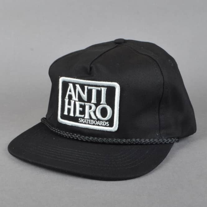 Antihero Skateboards Reserve Patch Unstructured Snapback Cap - Black