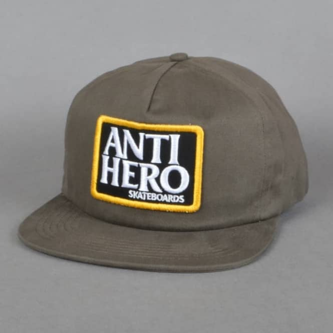 Antihero Skateboards Reserve Patch Unstructured Snapback Cap - Brown