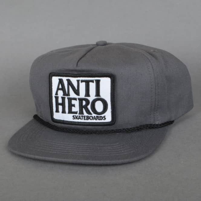 Antihero Skateboards Reserve Patch Unstructured Snapback Cap - Grey