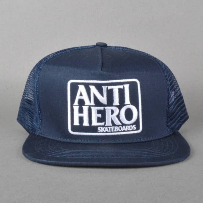 Antihero Skateboards Reserve Trucker Cap - Navy White - Caps from ... dce244f48d1