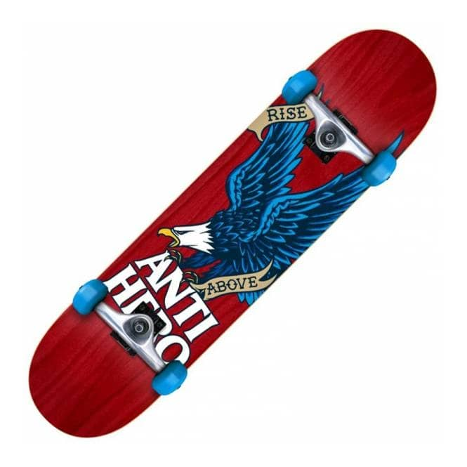 Antihero Skateboards Rise Above Woodgrain Medium Complete Skateboard 7.75