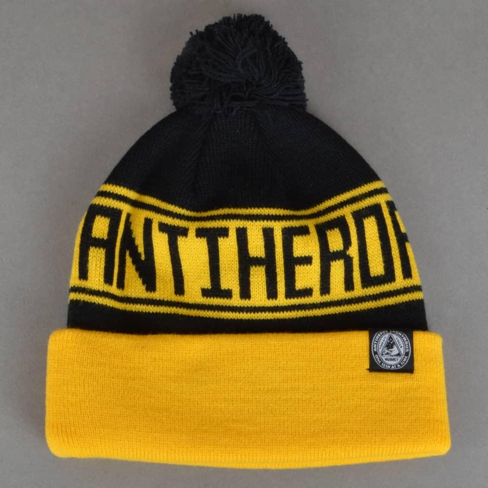 Antihero Skateboards Antihero Skateboards Rule Haters Pom Pom Beanie - Gold  Yellow Black 171eb947254