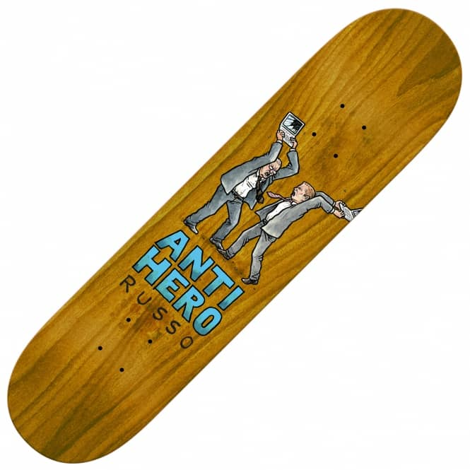 Antihero Skateboards Russo Wonderful Life (Brown Stain) Skateboard Deck 8.4